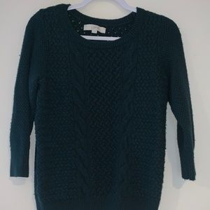 Loft, Navy blue quarter sleeve Sweater SZ M